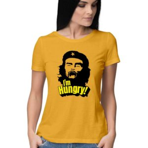 Hungry comrade buy funny anti communist t shirt in india yellow