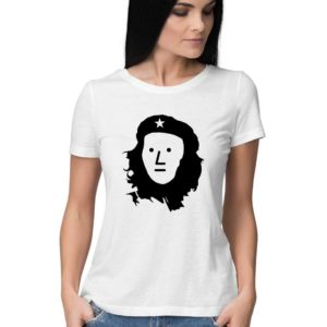 White NPC Che Guevara comrade buy funny anti communist t shirt in india