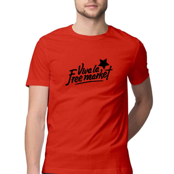 Viva la free market t shirt capistan club funny tshirt india Red S Men Round.jpg