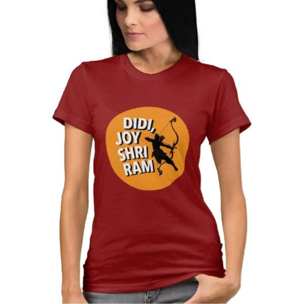 Didi joy shriram t shirt capistan club funny tshirt india Maroon women