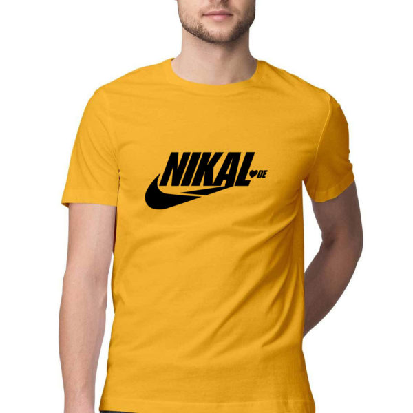 Nikal LoveDe funny Tshirt golden yellow Rupees 449 buy now capistan club india free shipping