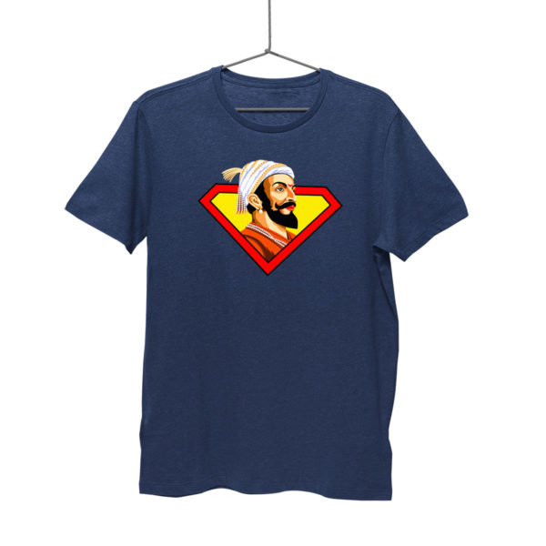 Shivaji Maharaj Super man navy blue T shirt india best price free delivery cod capistan club for men Myntra Souled store bewkoof amazon