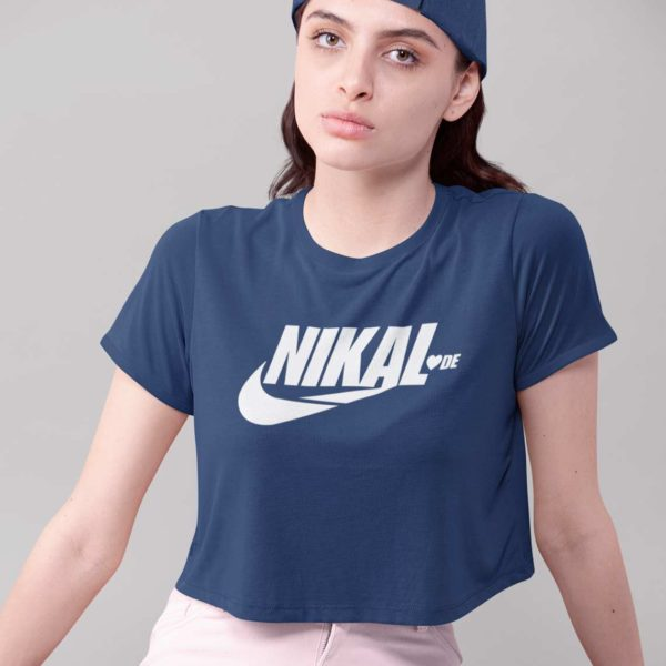Nikal Lavde funny crop top red Rupees 449 buy now capistan club india free shipping close up
