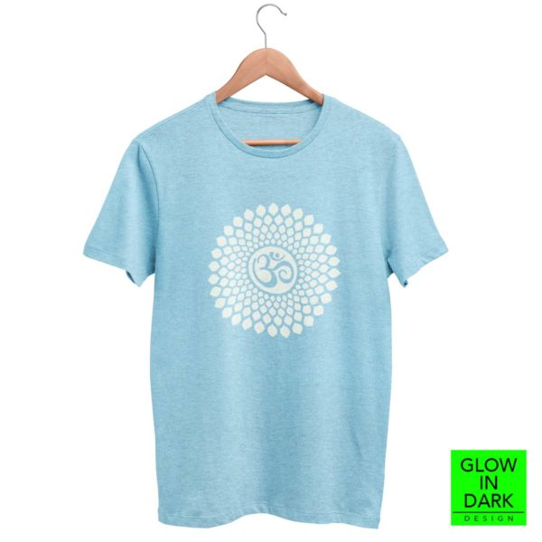 OM Glow in dark radium sky blue T shirt bewakoof flipkart sould store best price free delivery cod capistan club crop top for women men lowest price free shipping cash on delivery india dark