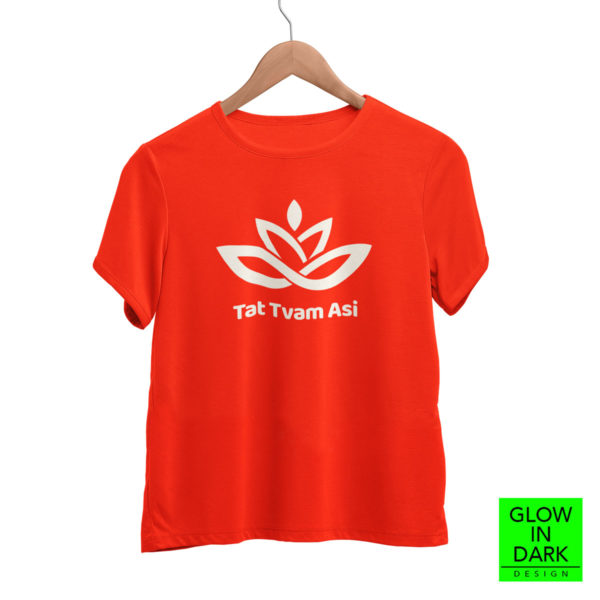 Tatwamasi tat twam asi OM Glow in dark radium T shirt bewakoof flipkart sould store best price free delivery cod capistan club red tshirt for women