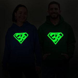 Super AUM Glow in dark unisex hoodie best price cash on delivery free shipping men women capistan club