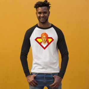 Bhagat Singh Raglan white round neck for men best price cash on delivery free shipping capistan club souled store jabong amazon myntra model