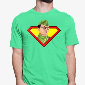 Subhas Chandra Bose Tshirt | Flag Green. Round neck for men. Cash on delivery. Free-shipping. Best price only on Capistan Club.
